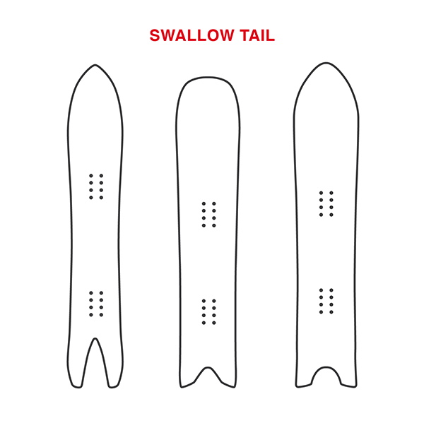 Swallow Tail Snowboard